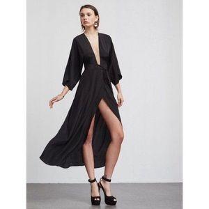 Reformation Pollock Dress Black Sz XS NWT